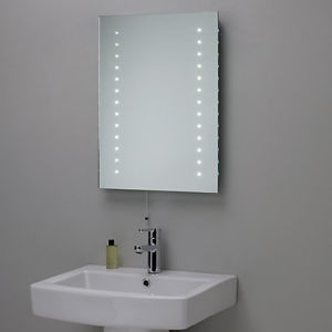 LED Light Fogless Backlit Bathroom Vanity Mirror With Shaving Mirror