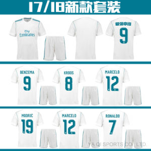 classic fit b51c2 697b0 2017 2018 Real Top Quality White Home Jersey Benzema Soccer Jersey for  Madrid Fans