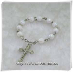 Plastic Beads Finger Rosary with Cross, Plastic Finger Rosary (IO-ce084) pictures & photos
