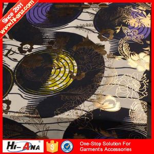 Accept OEM New Products Team Top Quality Gold Print Fabric pictures & photos