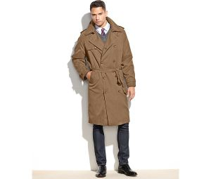 Men′s Nylon Double-Breast Belt Classic Trench Overcoat pictures & photos