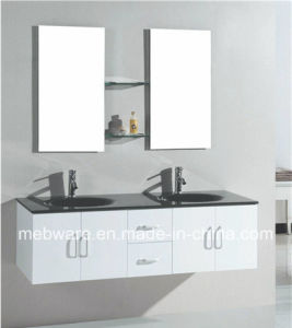 White Mdf Bathroom Vanity Cabinet With Gl Wash Basin