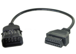OBD Cable for Opel 10 Pin Male to OBD2 16 Pin Female pictures & photos