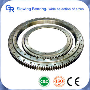 Excavator Single Row External Gear Swing Bearings for Kobelco