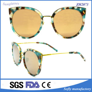 OEM Round UV400 Retro Metal Sunglasses Italian Brands Glasses pictures & photos