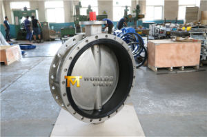 Stainless Steel CF8m CF8 Double Flange Butterfly Valve with Ce ISO Wras Approved (CBF01-TF01)