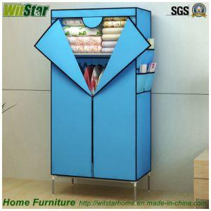 Simple Double Zipper Door Non-Woven Fabric Wardrobe (WS16-0085 for bedroom & China Simple Double Zipper Door Non-Woven Fabric Wardrobe (WS16-0085 ...
