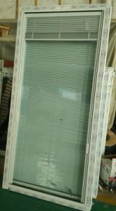 Conch PVC/UPVC Fixed Window Shutter Inside Double Glass pictures & photos