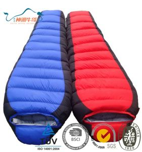 Wholesale Thicken Mummy Design Sleeping Bag for Camping