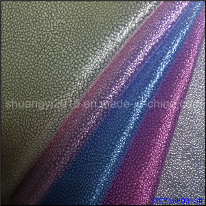 PU Leather Shining Film Emboss for Shoes Bags pictures & photos