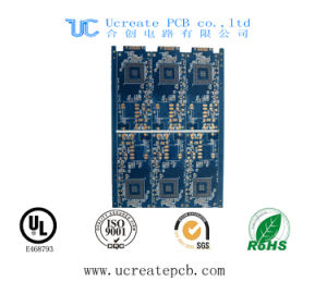3.0mm Thickness PCB Board with Blue Mask Gold Finger pictures & photos