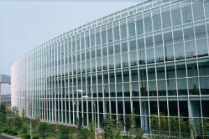 Green Curtain Wall Tempered Low-E Glass (Jinbo.)