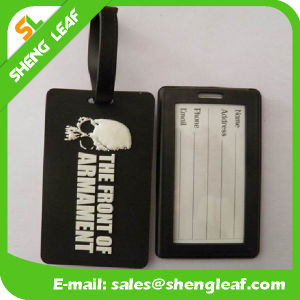 Popular Word Logo Brand PVC Rubber Luggage Tag (SLF-LT040)