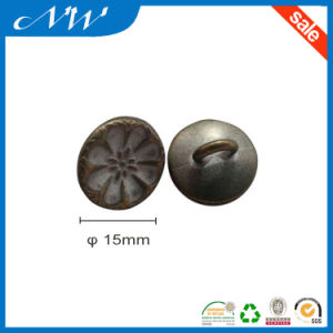 Zinc Alloy Shank Button with Customized Logo and Color