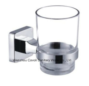 Zinc Chrome Bathroom Metal Wall Tumbler Glass Holder