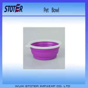 Colorful Foldable Red Color Silicone Pet Bowl