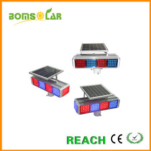 4 LED Groups 4 Sides Solar Energy Road Warning Light Burst