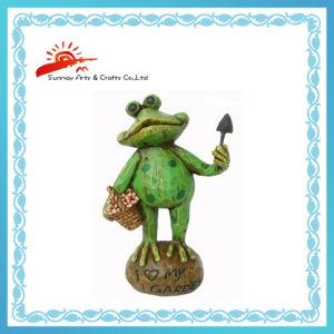 Polyresin Garden Frog Figurine Decor Smg2329b