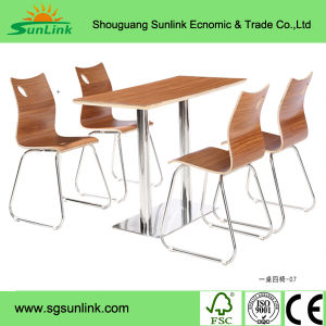 Wood Plastic School Furniture Set with Metal Steel Tube pictures & photos