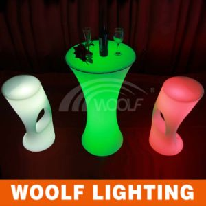 Color Changing Plastic Club LED Bar Chairs