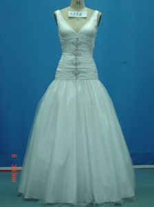 Real Sample off Shoulder Beaded Wedding Gowns (WD0116)
