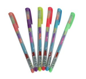 Rainbow Colorful Gel Ink Pen with Comfortable Grip (M-1508)