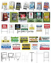 Meatl Frame Wire Stakes Iron Frame Board Real Estate Yard Banner Custom Printed Political Yard Sign pictures & photos