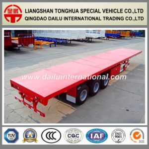3-Axles 40FT Container Transport Flatbed Semi Trailer