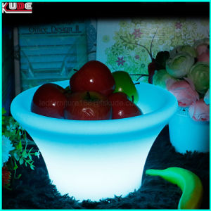 LED Wedding Fruit Tray Dish Plate Garden Party Fresh Fruit Platter with LED pictures & photos