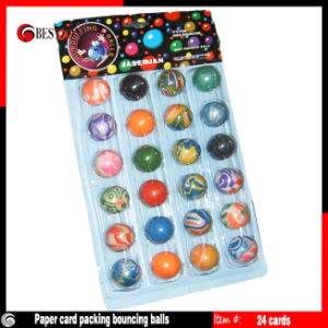 Paper Card Packing Mixed Bouncing Balls 24PCS/Card pictures & photos