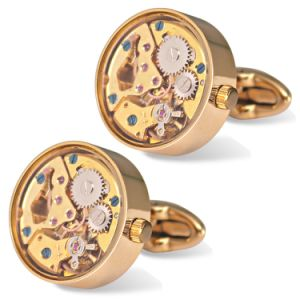 Men Movement Cufflinks with Glass Cover Wm-910