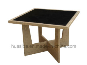 Square Tempered Glass Top Outdoor Dining Table pictures & photos
