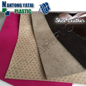 Bonded Clemence Pattern Leather Fabric for Shoes and Bags Making