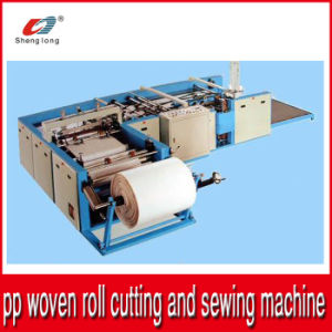 Auto Plastic PP Woven Bag Bottom Cutting and Stitching Machine pictures & photos