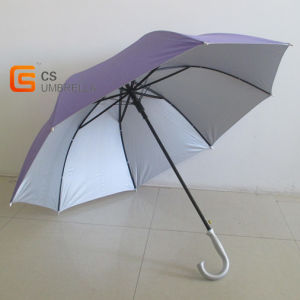 Plain Color Hook Handle Golf Umbrella (YSG017)