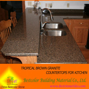 Merveilleux Prefab Tropical Brown Granite Kitchen Countertops Commercial