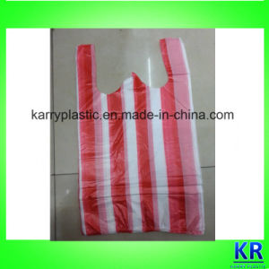 HDPE Stripe T-Shirt Bags in Pack, Food Shopping Bags pictures & photos
