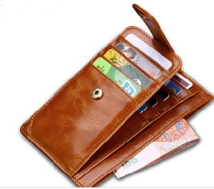 Customized Designs PU Leather Credit Card Organizer From China (804)