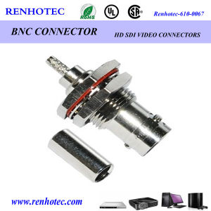 BNC Connector 75 Ohm Bulkhead Receptacle Crimp for Cabe Rg58 Rg59 Rg316 pictures & photos