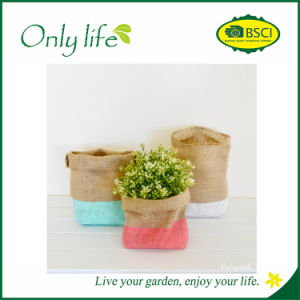 Onlylife Eco-Friendly Fashion Design Jute Flower Pot/Planter pictures & photos