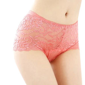 Women Sexy Lace Pink Underwear