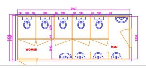 Mobile Ablution Containers House Drawing
