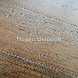 Gunstock Wire-Brushed Strand Woven Bamboo Flooring