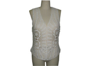 China Ladies Hand Crochet Sleeveless Cardigan For Summer15 China