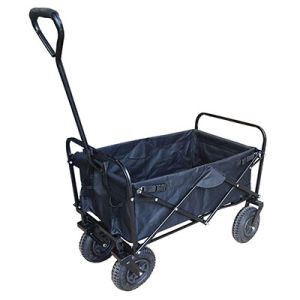 Folding Outdoor Utility Wagon With Wider PU Wheels