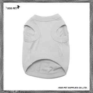 Grey Cotton Dog Clothing Dog Tank Top Spt6003-7 pictures & photos