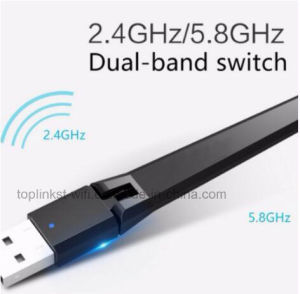 Dual Band 600Mbps 802.11 N//AC WPA2 High Speed USB WiFi Adapter External Antenna