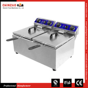 Commercial Double Tank Electric Countertop Deep Fryer Dzl-132b pictures & photos