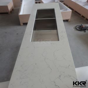 Ce Certificates Artificial Marble Quartz Countertops for Bathroom pictures & photos