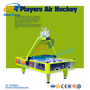 Astonishing China Yellow Color 4 Player Air Hockey Coin Operated Indoor Interior Design Ideas Tzicisoteloinfo